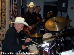 """Johnny Cuviello......Bob Wills' """"Little Drummer Boy""""......still has it at 92 (or is it 93) years old?"""