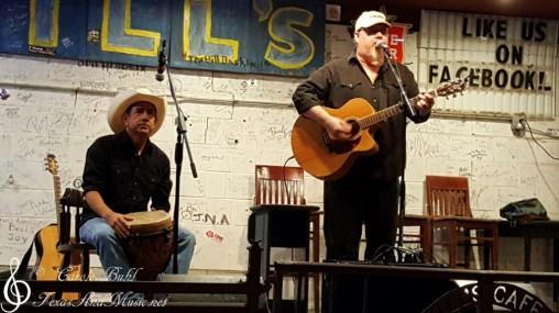 Glen Collins and John Arthur Martinez — at Hill's Cafe.