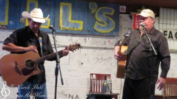 Glen Collins and John Arthur Martinez — at Hill's Cafe.
