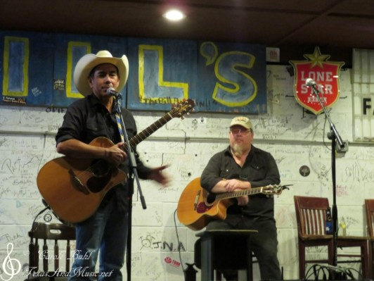 John Arthur Martinez and Glen Collins — at Hill's Cafe.
