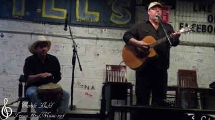 John Arthur Martinez and Glen Collins — at Hill's Cafe.