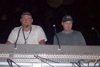 The un-sung heroes of all concerts...soundmen and road managers!