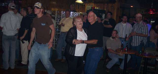Mike and Dobie enjoying a dance