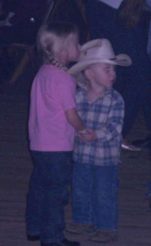 Time to use the lessons! He's already learned the most important one.......all the girls wanna dance!!