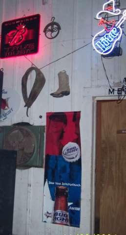 All the times we've been to Club 21, this was the first time I noticed the boot on the wall.